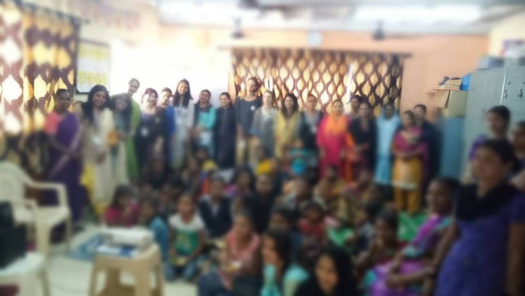 Workshop at Kamathipura, for girls and women associated with the NGO Oasis India